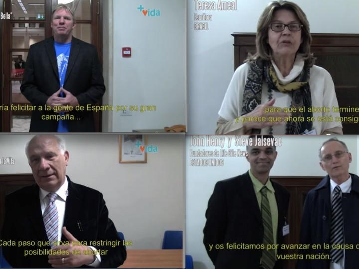Líderes internacionales apoyan al Gobierno en la derogación de la Ley del Aborto