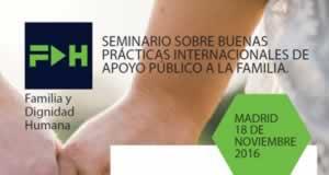 """Madrid acogerá un seminario sobre """"Buenas prácticas internacionales de apoyo público a la familia"""""""